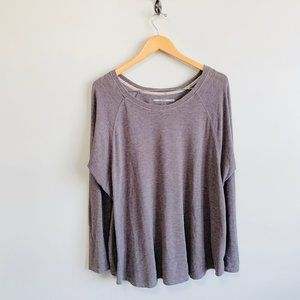 Tommy Hilfiger Long Sleeve Pullover Top Gray L